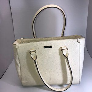 KATE SPADE OFF WHITE  EMBOSSED LEATHER BAG